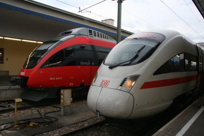 австрийские и немецкие поезда