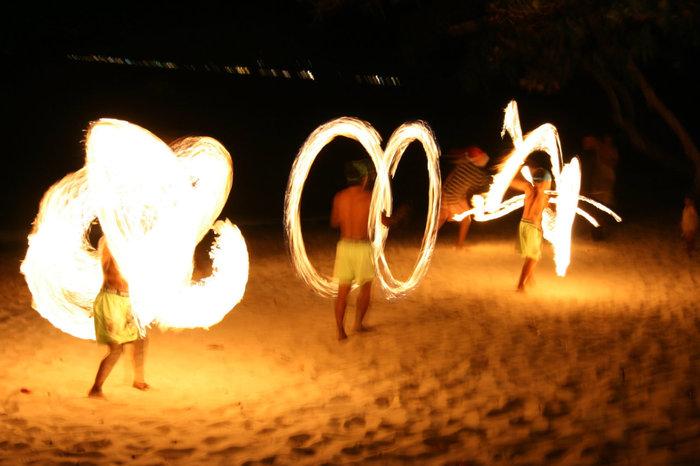 огненное шоу на острове Ко Чанг