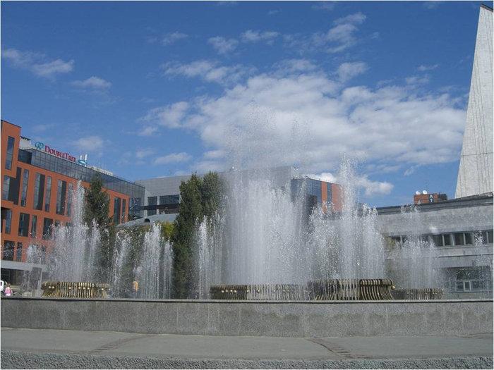 Вид на фонтан