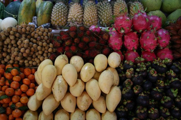тайские фрукты — манго, рамбутан, мангустин, глаз дракона и другие