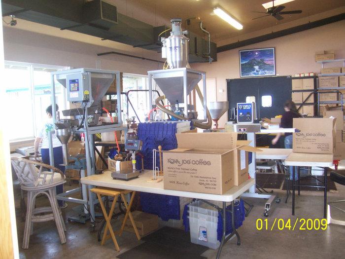 На кофейной фабрике