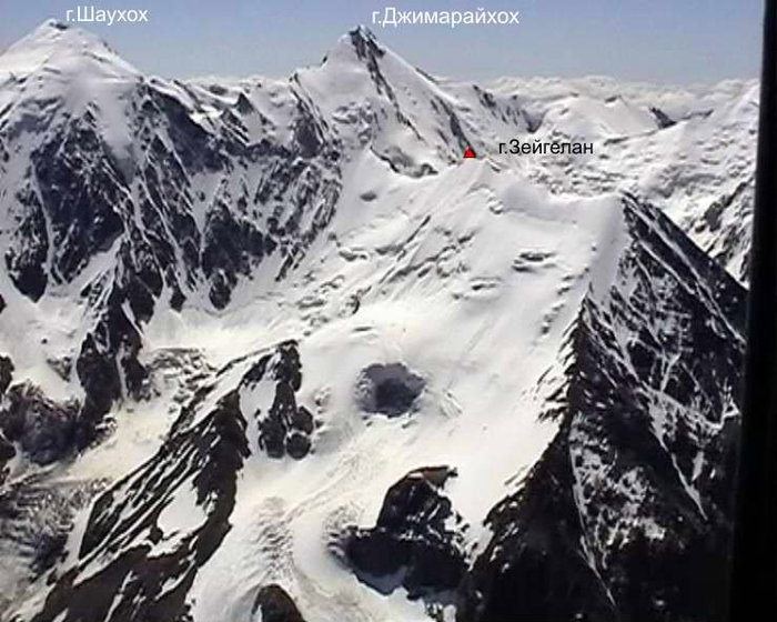 Истоки Большого Мидаграбинского водопада — г.Зайгелан