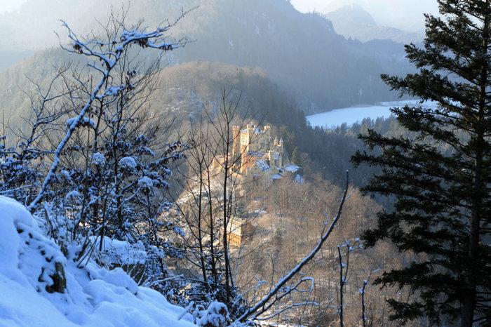 вид на замок Хоэншвангау