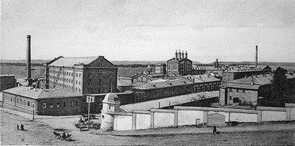 Вид на пивзавод из Пушкинского сквера (начало ХХ века)