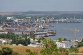 Вид на Керченский порт.