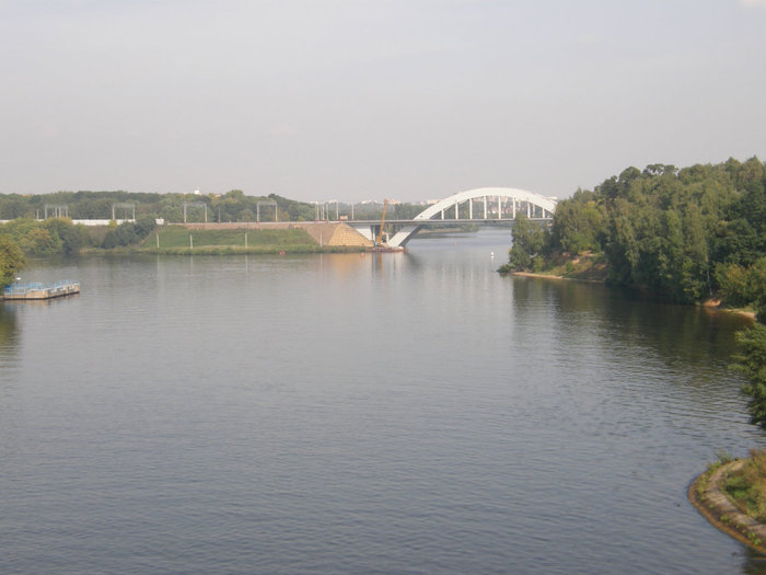 Химкинский железнодорожный мост.