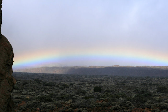 радуга в национальном парке Тейде