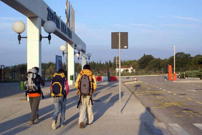 Первые шаги по Хорватии. У аэропорта Пулы.