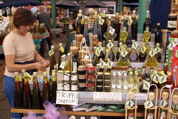 На рынке в Ровине