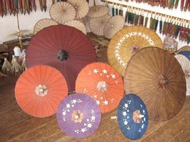 А так выглядят уже готовые зонтики.
