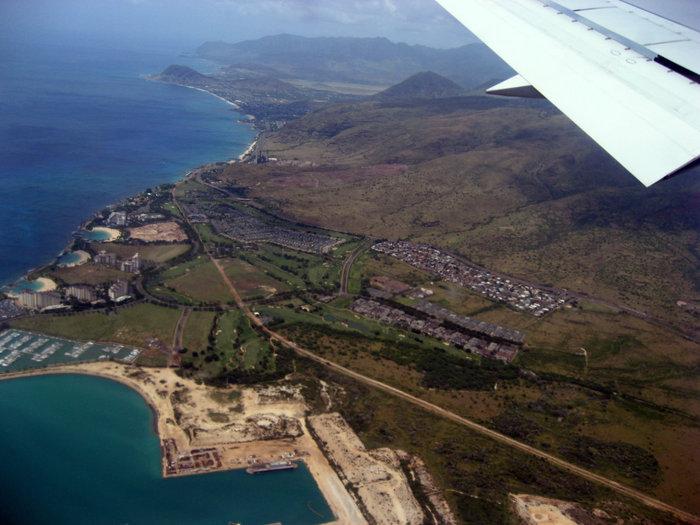 Подлетаем к Гавайям