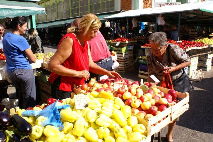 На городском рынке в Риеке