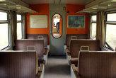 Внутри типичного хорватского поезда.