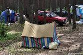 Судя по всему, это чья то личная палатка, потому как на прокат в кемпинге выдают палатки получше и поновее.