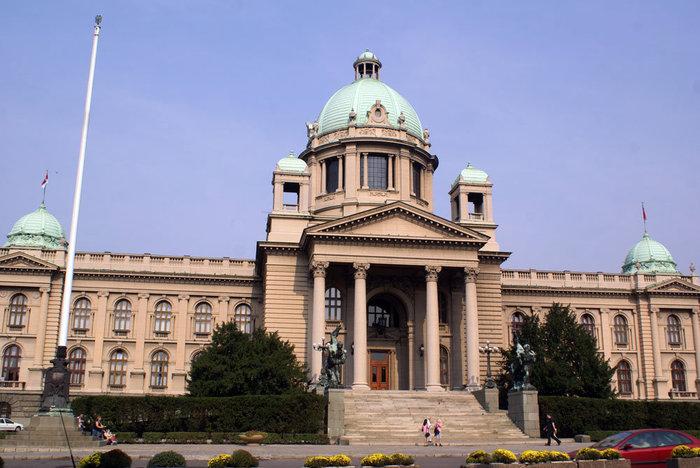Здание парламента Сербии в Белграде — бывший федеральный парламент, но федерации нет!