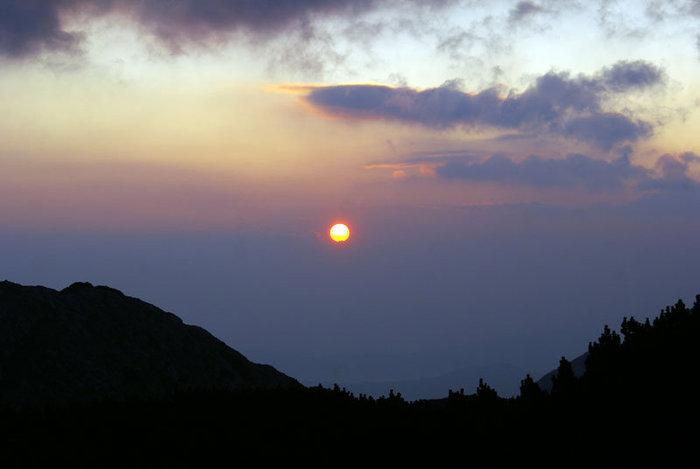 Закат в парке Дурмитор