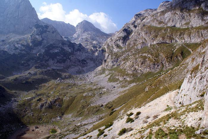 Горы в национальном парке Дурмитор на севере Черногории