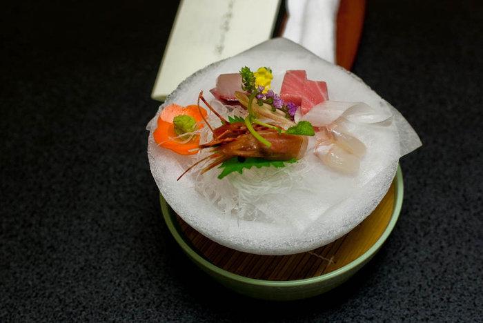 Ужин: сасими на льду