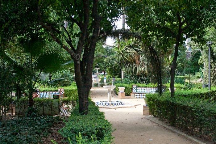 сады в центре Севильи