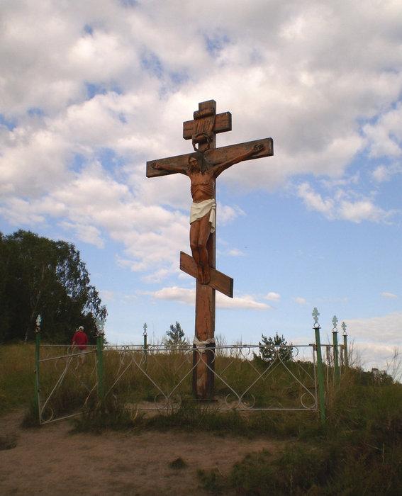 Крест около святого источника