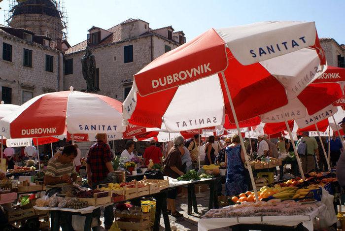 На рынке в Дубровнике