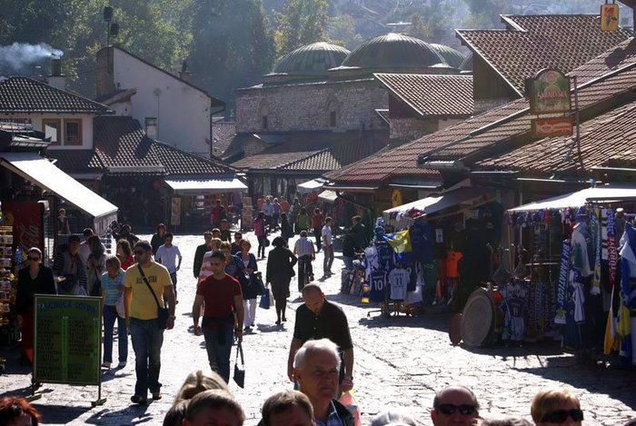 В центре Старого города в Сараево