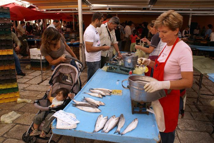 На Рыбном рынке в Сплите