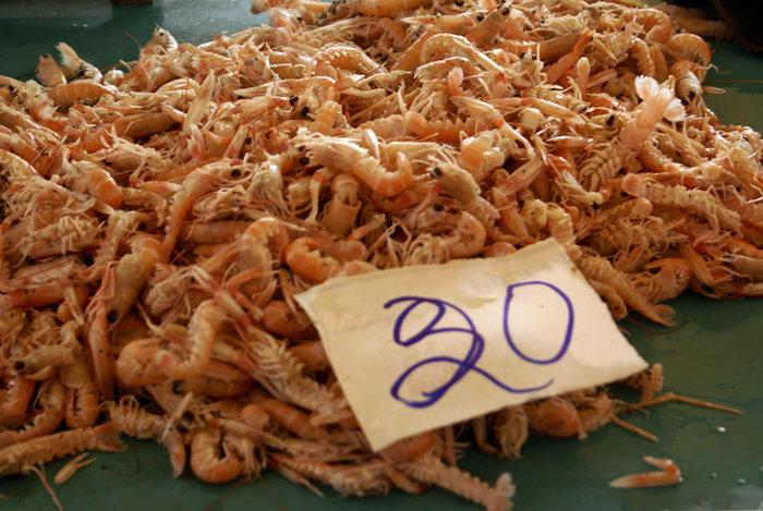 Креветки (около 75 руб за 1 г — на наши деньги)