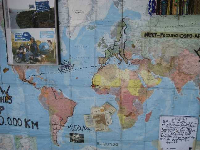 Карта путешествия Джулианы и Лорены