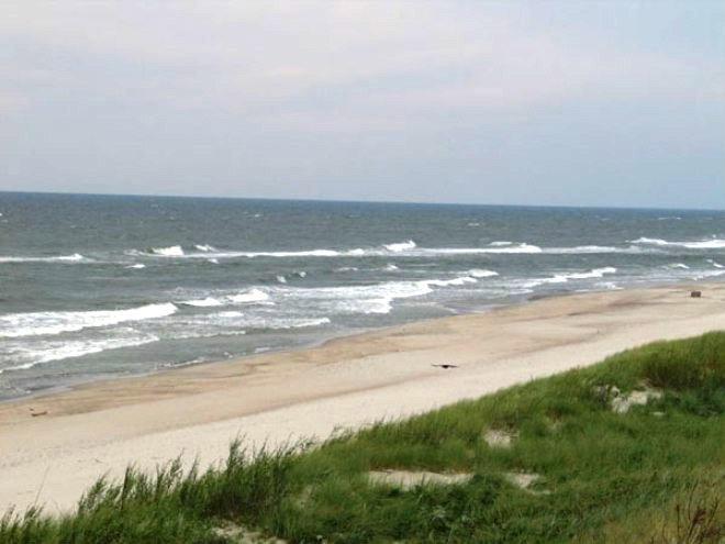 Балтийское море, кусочек пляжа в Смильтине.