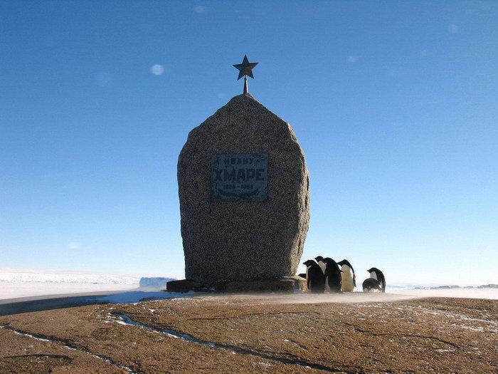 Память о погибших российских полярниках чтут даже пингвины