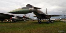 Есть в музее и современная военная техника. Например, экспериментальный сверхзвуковой бомбардировщик — ракетоносец Т-4 (он же Су-100)