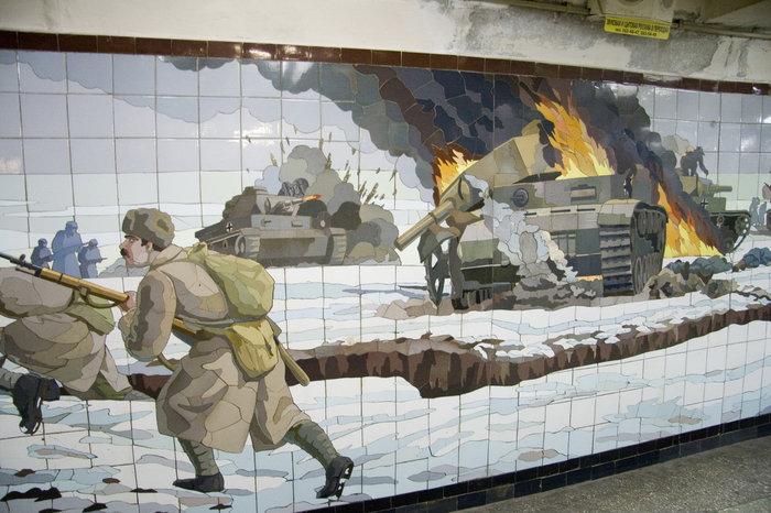 Горят немецкие танки