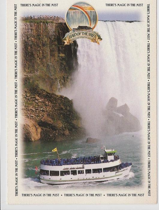 Это наш билет на экскурсионное судно, которое возило под самый водопад.