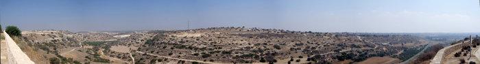 вид на Кипр с раскопок