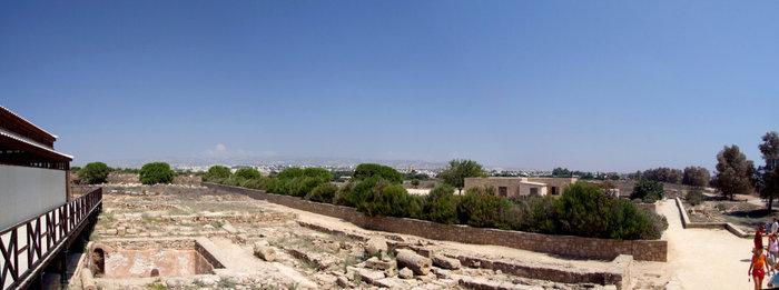 вид Кипра в районе виллы Диониса