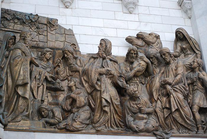 Современный аналог: Мельхиседек встречает Авраама с плененными им царями.