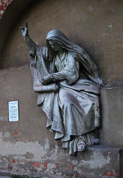 Девора — библейская героиня, призывающая народ к борьбе с поработителями (скульптор Логановский Л.В., 1847-49гг.)