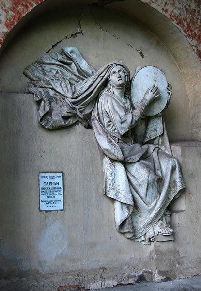 Мариам — библейская героиня, воспевающая победу своего народа над врагами (скульптор Логановский Л.В., 1847-49гг.)