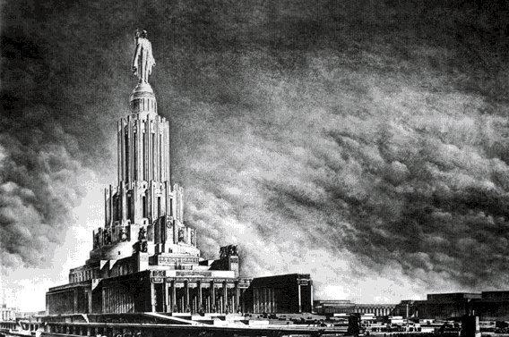 На месте храма планируют возвести апофеоз коммунистической идеологии — Дворец Советов(перед вами макет неосуществленного проекта).