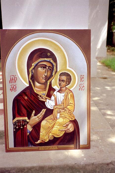 Икона, которую нарисовал для местного православного храма. Всего нарисовал их три.