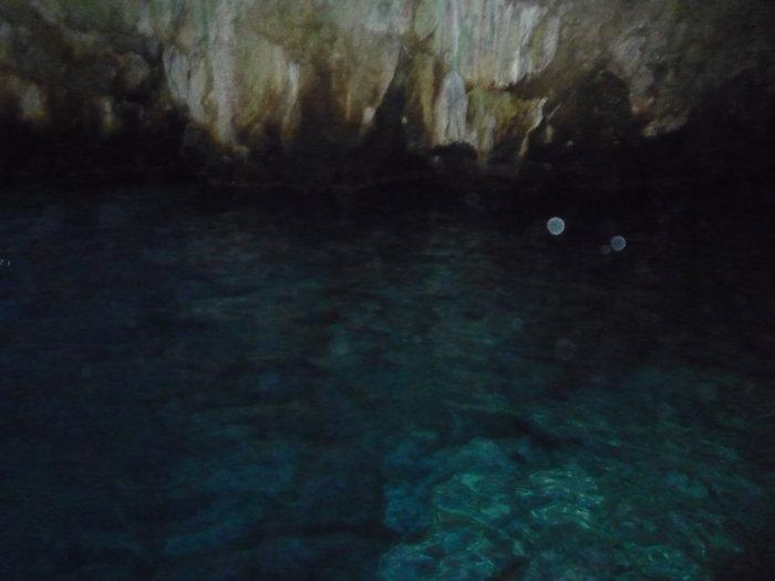 Голубая пещера, плохая фотография, но другой нет
