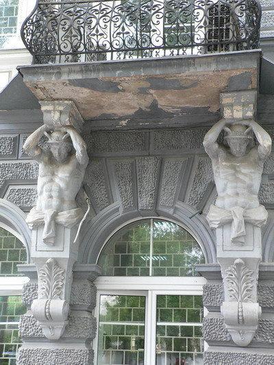 Фрагмент дома в старом городе