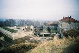 Вид с вала на замок и укрепления