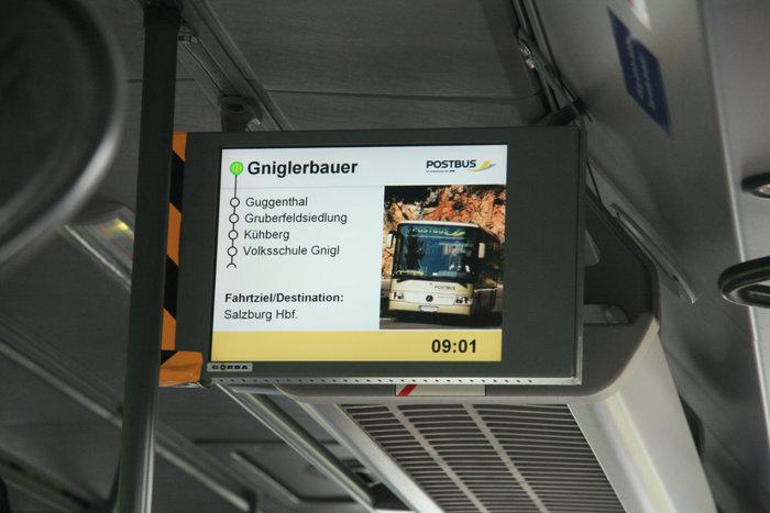 экран австрийского рейсового автобуса