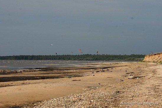 Песчаный пляж рядом с с. Федорково // Сентябрь 2009