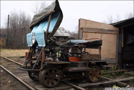 Единственный транспорт до Головановой дачи.