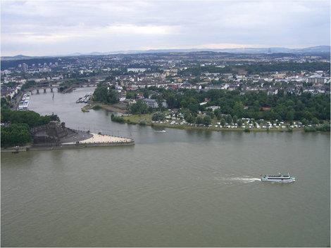 Место слияния двух рек