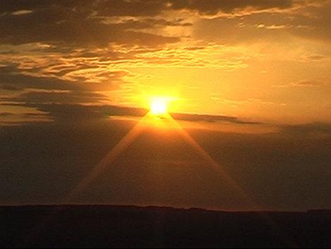 Закат на горе Шаманка (22.03.2013)