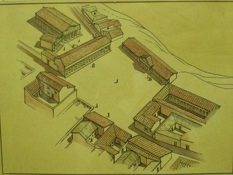 Реконструкция кварталов Ольвии в Киевском музее археологии